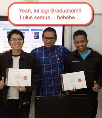 ini lagi graduation dan pembagian sertifikat