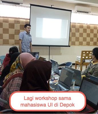 kegiatan workshop-di-depok dengan mahasiswa