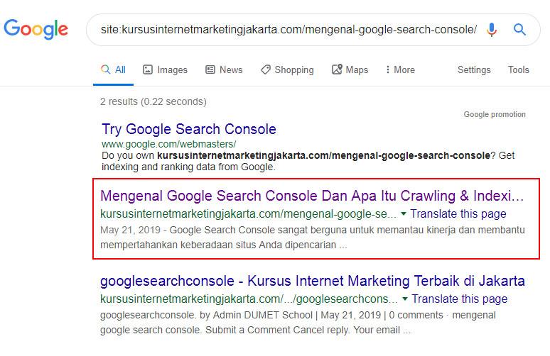 Terindek Google